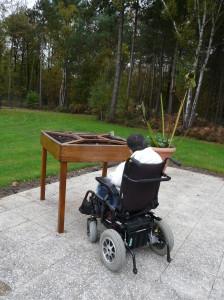 Fabrication d'une table de jardinage, Val d'oise, Yvelines pour une structure hospitalière