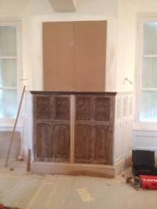 Fabrication d'un meuble vaisselier à Guitry 27 proche de Vernon eure