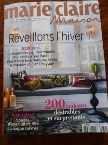 Nos fabrications de meuble vaisselier, porte, fenêtre dans un château proche de vernon 27 et gisors 27 en 1ere page du magasine MARIE-CLAIRE